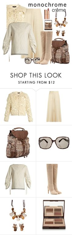 """monochrome crême"" by daincyng ❤ liked on Polyvore featuring Tabula Rasa, The Row, Billabong, Yves Saint Laurent, TIBI, Gianvito Rossi, Mixit, Charlotte Tilbury and monochrome"