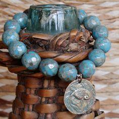fish in a pond bracelet.. by forgivingworks on Etsy, $85.00