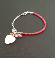 Pink Cluster Bracelet £3.50