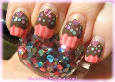 Image detail for -Choclate Cupcake Birthday Nail Art - Nail Designers