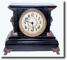 Seth Thomas Tambour Antique Mantle Clock Seth Thomas