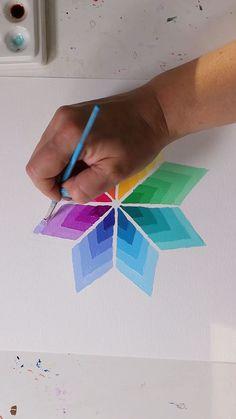 Mandala Drawing, Mandala Art Lesson, Cool Art Drawings, Beautiful Drawings, Art Sketches, Doodle Patterns, Zentangle Patterns, Diy Canvas Art, Painting & Drawing