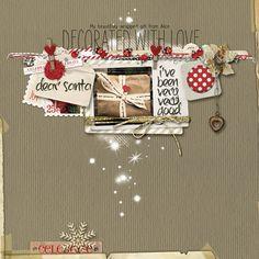 #christmas #scrapbook page from Carolynn at DesignerDigitals