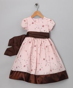Take a look at this Pink Floral Taffeta Dress - Toddler & Girls by Sweet Kids on #zulily today!