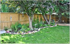 rock border and shade - ideas for my back yard Landscaping With Rocks, Garden Landscaping, Rustic Outdoor, Outdoor Decor, Outdoor Ideas, Rock Border, Landscape Borders, Bloom Where You Are Planted, Backyard Makeover