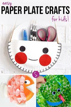 Goodbye boring paper plate - Hello pencil holder, snake or fish!