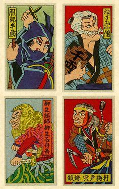Vintage menko cards