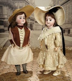 """""""Fascination"""" - Sunday, January 8, 2017: 357 All-Original French Bisque Bebe by SFBJ with Luxury Costume"""