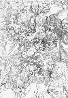 WildCats pin up pencil art by Jim Lee! (Image/Wildstorm comics)