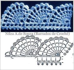 Granny Square Runner Pattern Diagram and Inspiration ⋆ Crochet Kingdom Granny Square Runner Pattern Diagram and Inspiration ⋆ Crochet Kingdom Knitting , lace processing is probably the most b. Crochet Boarders, Crochet Edging Patterns, Crochet Lace Edging, Crochet Chart, Knit Or Crochet, Filet Crochet, Crochet Designs, Crochet Doilies, Crochet Flowers