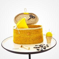 SEE THEM AT BIRDIEBROWN'S WEBSITE New range of sweet little jute sewing baskets and accessories.  Rare as hen's teeth! Felt Embroidery, Felt Applique, Applique Cushions, Sewing Baskets, Jute, Wool Felt, Straw Bag, Pure Products, Teeth