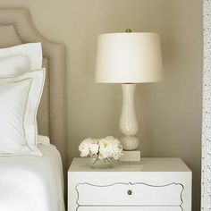 Upholstered Linen Headboard, Traditional, bedroom, Courtney Giles Interiors