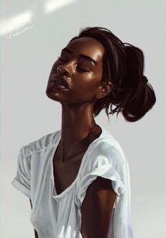 Sunlight by Exploom - Afro-Art - Black Girl Art, Black Women Art, Art Girl, Art Women, African American Art, African Art, Black Art Pictures, Black Artwork, Afro Art