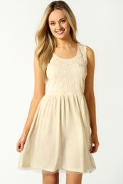 Ashley Floral Applique and Mesh Prom Dress