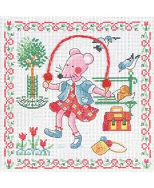 free cross stitch patterns in pdf format with a little mouse