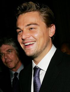 Love to see Leonardo DiCaprio smile! <3