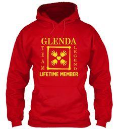Team Glenda Family Red Sweatshirt Front