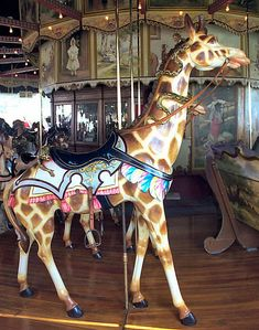 Kit Carson County Fairgrounds Carousel PTC Outside Row Giraffe