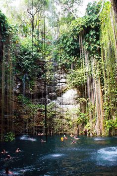 Swimming Below Ground: Cenote -  Mexico