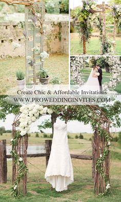 There is something charming about a rustic wedding and it's gradually becoming one of our favorite wedding themes. And no doubt that brides-to-be long Rustic Arbor, Wedding Arch Rustic, Outdoor Wedding Decorations, Wedding Themes, Reception Ideas, Wedding Reception, Wedding Day, Ruffles Bridesmaid Dresses, Seasonal Flowers