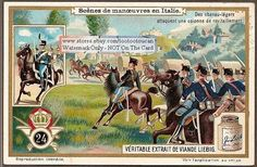 Attack Of Italian Army Cavalry Horse Troops c1917 Card