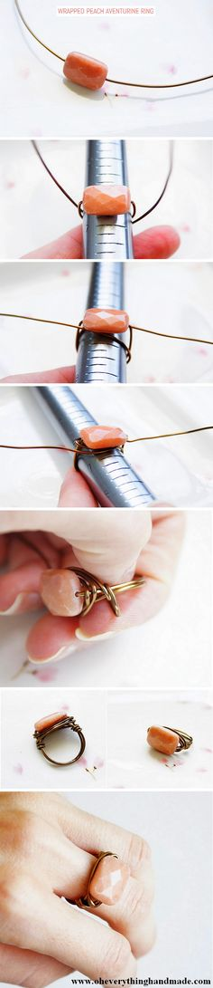   Keywords: DIY, crafts, ring, wrapped, wire, jewellery, tutorial, handmade