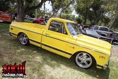 69-72 chevy yellow truck