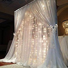 33 Great DIY Fairy Lights Ideas - Kelcey herrick - 33 Great DIY String Lights Ideas – Kelcey Herrick Christmas lights are not just for the holidays. Diy Backdrop, Backdrop Lights, Backdrop Wedding, Ceremony Backdrop, Head Table Backdrop, Wedding Columns, Dessert Table Backdrop, Sequin Backdrop, Background Diy