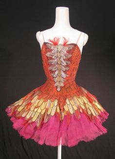 Fonteyn's famous Firebird costume from 1954, designed by Natalia Gontcharova