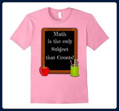 Mens Math is the only Subject that Counts Funny Teacher T Shirt Medium Pink - Math science and geek shirts (*Amazon Partner-Link)