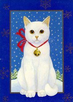Cat on Blue - Stephanie Stouffer