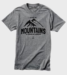 Mountains T-Shirt | A cozy reminder to aim high and conquer your fears, this comfy... | T-Shirts