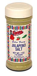 Fiesta Jalepeno Salt.  Good on everything, even fruit!