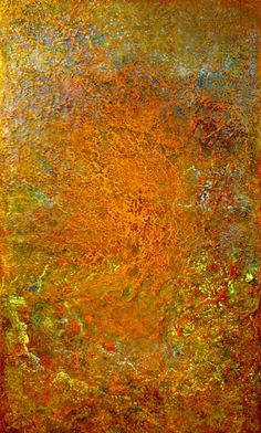 """Drew Wood, Magnetar, 2008, oil, color-shifting enamel, acrylic, pumice, and synthetic resin on canvas, 36""""x60""""x2"""", James Prusko Collection"""