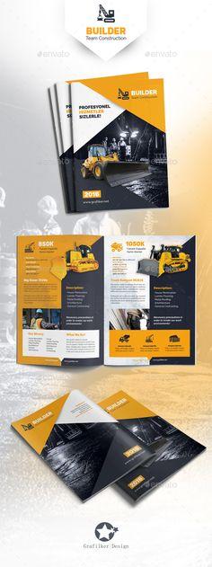 Construction Brochure Template PSD #design Download: http://graphicriver.net/item/construction-brochure-templates/13913835?ref=ksioks