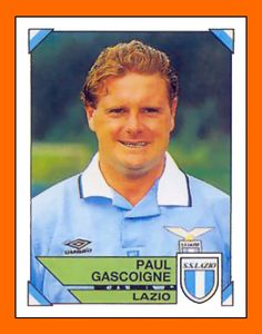 Gazza in Lazio, imagine a footballer of today looking like this, just yeah he had the skill but his appearance in today's sports world would be unexceptable. how the world's changed only for the worse. Football Stickers, Football Cards, Football Jerseys, Famous Sports, Most Popular Sports, Football Images, Football Design, Soccer Stars, Sports Stars