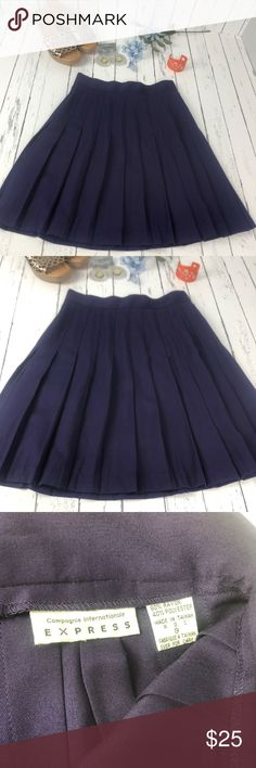 cd0294023a Vintage Express Purple Skirt Size 9 Vintage Express Compagnie  Internationale purple pleaded skirt. One of