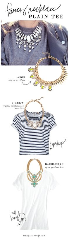 Trend Talk: Fancy Necklace // Plain Tee