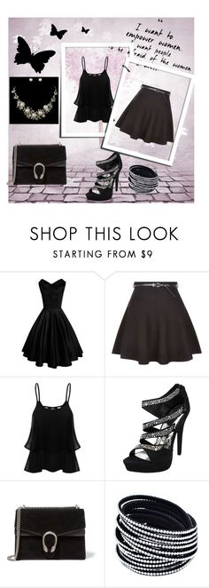 """""""My style !!!"""" by hazreta-jahic ❤ liked on Polyvore featuring New Look and Gucci"""