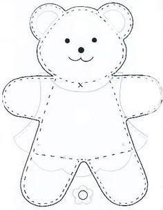 simple teddy bear pattern - Google Search
