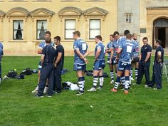 Bristol Rugby - The players wait to have their head shots taken for the new season