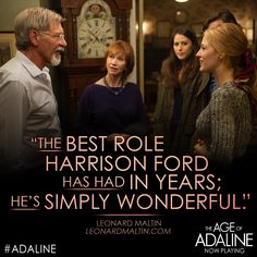 Don't miss the legendary Harrison Ford in one of his finest roles. See The Age of #Adaline – Now Playing! Tickets: http://lions.gt/adalinetix