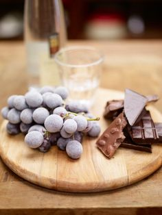 frozen grapes, chocolate & grappa | Jamie Oliver | Food | Jamie Oliver (UK)  http://www.jamieoliver.com/recipes/fruit-recipes/frozen-grapes-chocolate-grappa#