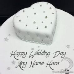 The best and romantic gift for the wedding is a romantic cake. Get romantic happy wedding cake with name and photo of bride or groom. Birthday Wishes With Name, Birthday Wishes Cake, Happy Birthday Cakes, Anniversary Cake With Name, Happy Anniversary Cakes, Wedding Cake With Name, Wedding Cupcakes, Happy Birthday Chocolate Cake, Aniversary Cakes