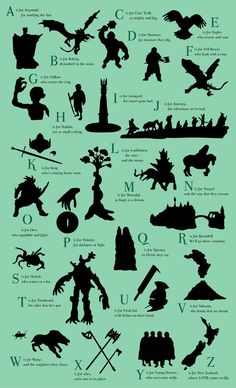 LOTR ABC's...if I ever have kids, this will be in their room. :)