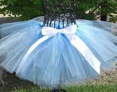 Cinderella tutu- Girls Cinderella Costume, Baby Cinderella Costume- Disney Princess tutu- Light Blue tutu- Toddler Princess Costume