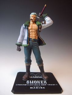 Figure One Piece. Smoker, Figuarts Zero Figure of 20 cm belonging to the manga and anime One Piece with the character Smoker, a great marine whose mission is to capture Luffy. One Piece Figure, Figure It Out, Anime One Piece, Zoro One Piece, Model One, Figure Model, Figurine Anime, Figurine One Piece, Figuarts
