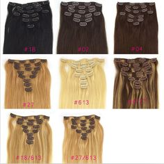 20 inches 7pcs95g Clip in hair extension AAAAA by hairshowshow, $59.00