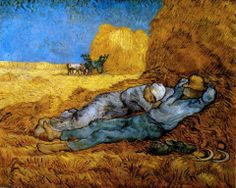 """""""La vida necesita de pausas..."""" (Carlos Drummond de Andrade). (Arte: Vicent Van Gogh)"""