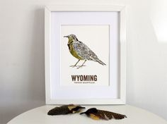 Wyoming State Bird Nature art Outdoor art by WoodenPencilCo, $18.00